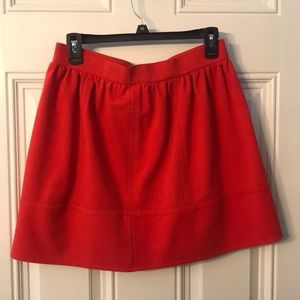 Madewell Red mini skirt size 6